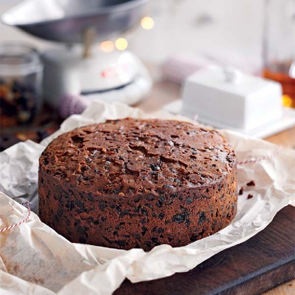 Mary Berry's rich traditional Christmas cake recipe is filled to the brim with fruit, as well as almonds, brandy and treacle.