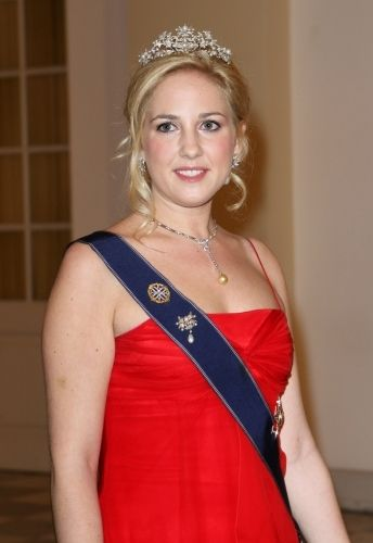 Princess Theodora of Greece at the Danish Jubilee Banquet on 15 Jan 2012 at Christiansborg Palace