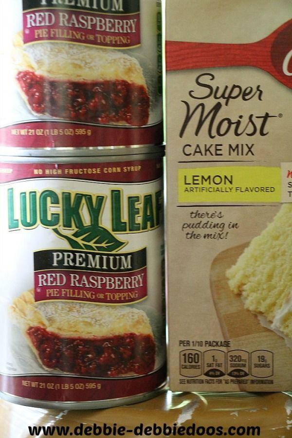 Lemon Raspberry dump cake