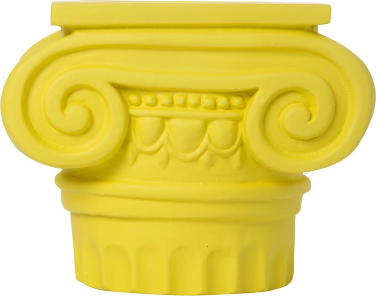 Candle Holder Atlas Weight: 500 gr Dimension: 9,5x12x9cm Material: ceramine Color: lemon