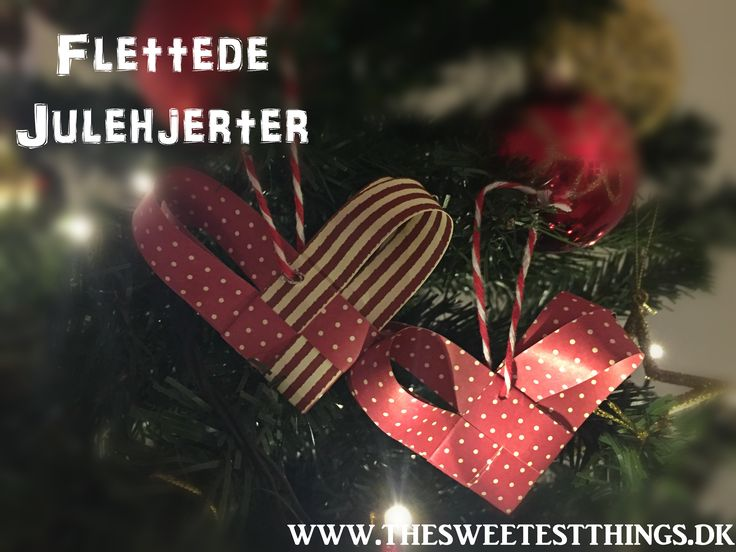 Flettede Julehjerter Danish christmas heart ornaments.