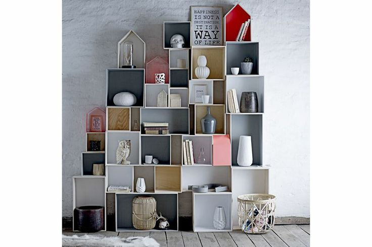 Etagere murale modulable en bois chambre internat pinterest - Idee deco etagere murale ...