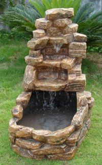 25 best ideas about homemade water fountains on pinterest for Garden pond waterfalls for sale