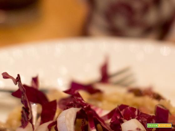 Risotto pancetta affumicata e radicchio rosso con gorgonzola o taleggio  #ricette #food #recipes