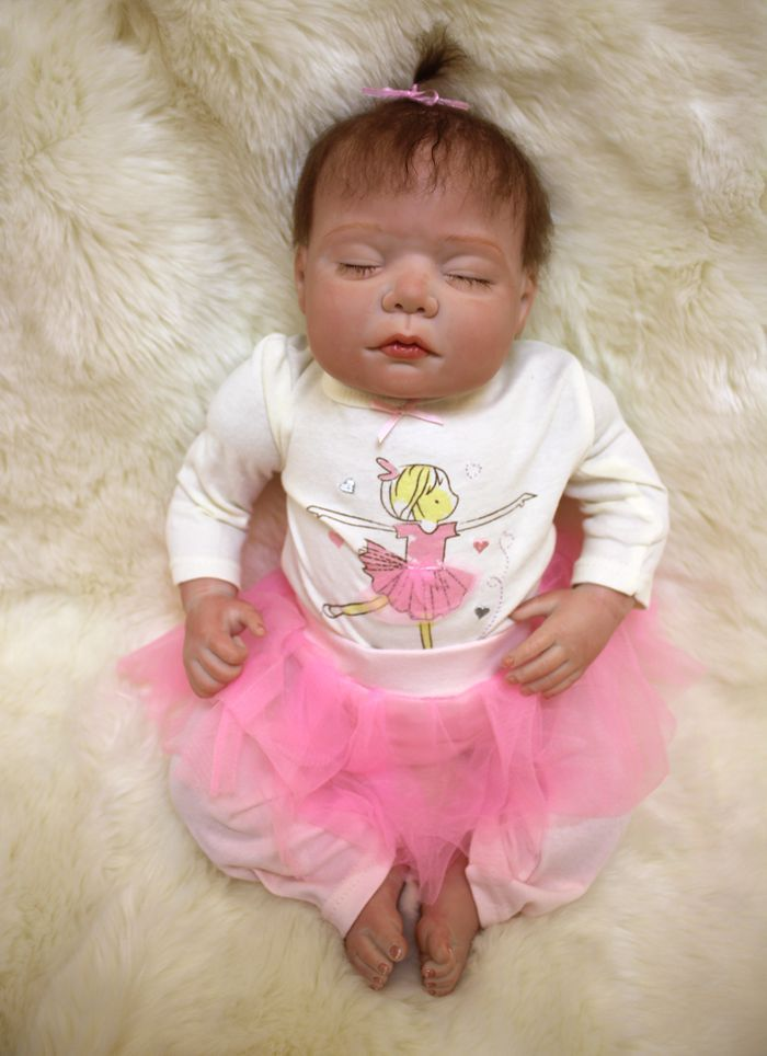 50cm Real Touch Silicone Reborn Baby Doll Toy Lifelike Exquisite Soft Newborn Babies Doll Birthday Gift Play House Bedtime Toy #Affiliate