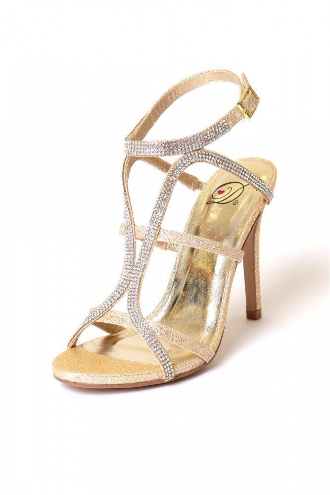 Party On Dress Heel Gold