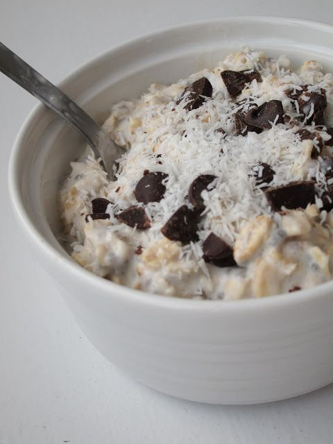 Overnight Coconut Oatmeal (remember to get unsweetened coconut milk, NOT sugar free, which has stevia)