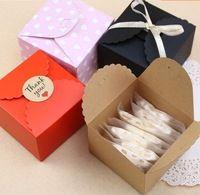 9*9*6 cm Kraft Craft Papier Sieraden Verpakking Kleine Geschenkdoos Voor Koekjes Handgemaakte Zeep Wedding Party Candy cake cookies Box