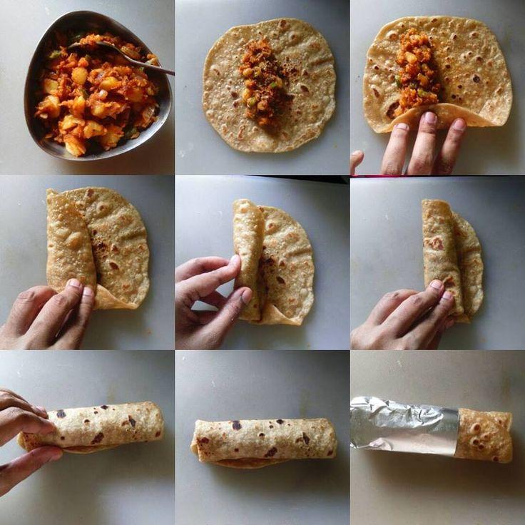 Vegetable Kathi Roll Recipe