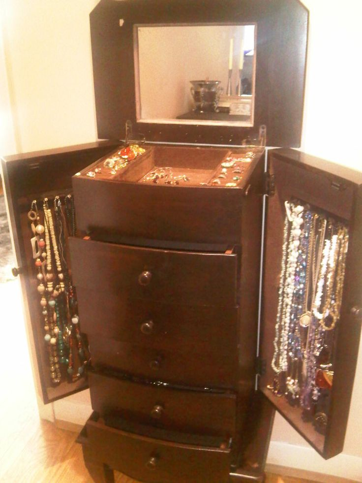 Rescued Jewelry cabinet, 4 feet tall.   $175, Item #SC-1014, Sold, please visit: http://www.findandtreasure.com/