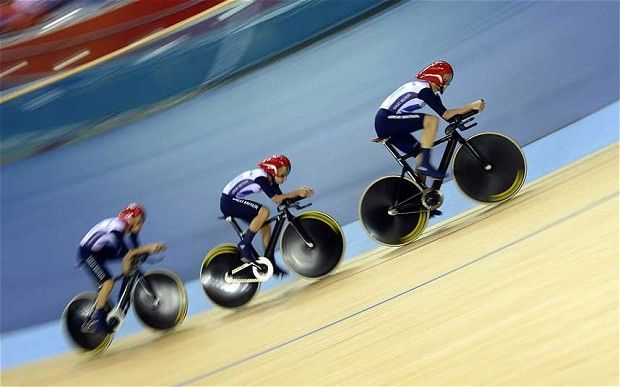 Mens GB Team Pursuit 2012 Olympics.