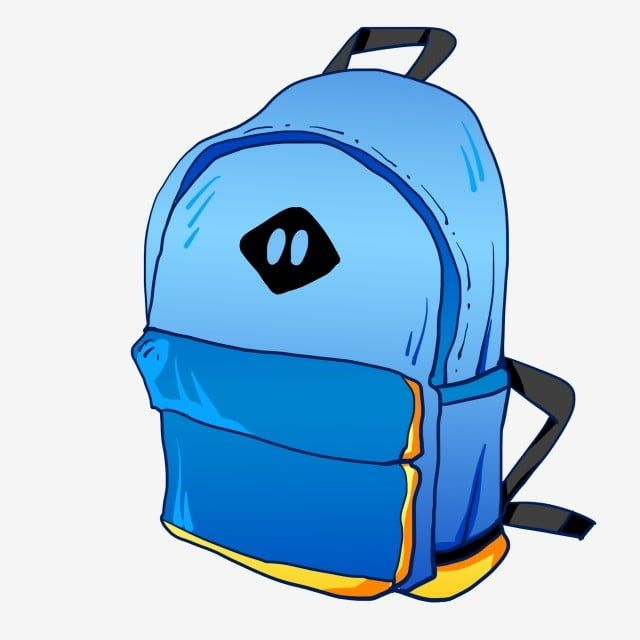 Blue School Bag Blue Backpack Blue Yellow Png And Psd Blue Backpack Blue Bags School Bags