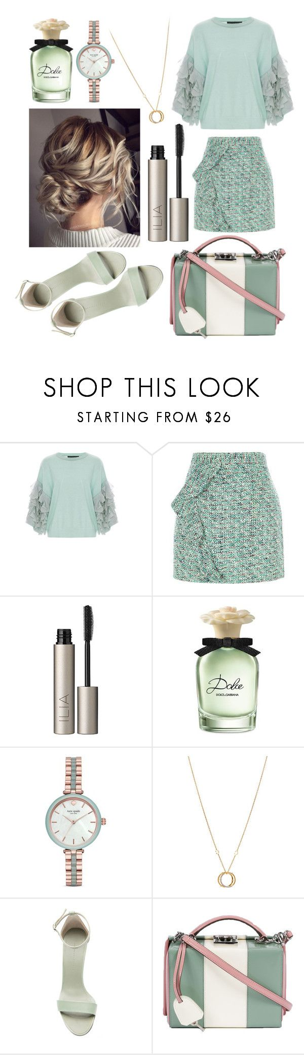 """🍸"" by dilya-kadyrova ❤ liked on Polyvore featuring Tabula Rasa, River Island, Ilia, Dolce&Gabbana, Kate Spade, Charriol, Victoria Beckham and Mark Cross"
