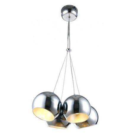 Wade Chrome 4 Light Pendant, Silver