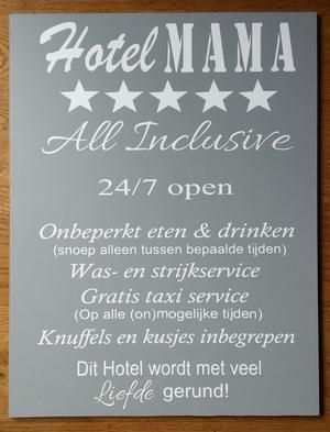 Bekijk de foto van VanEtje met als titel Hotel MAMA XXL en andere inspirerende plaatjes op Welke.nl.