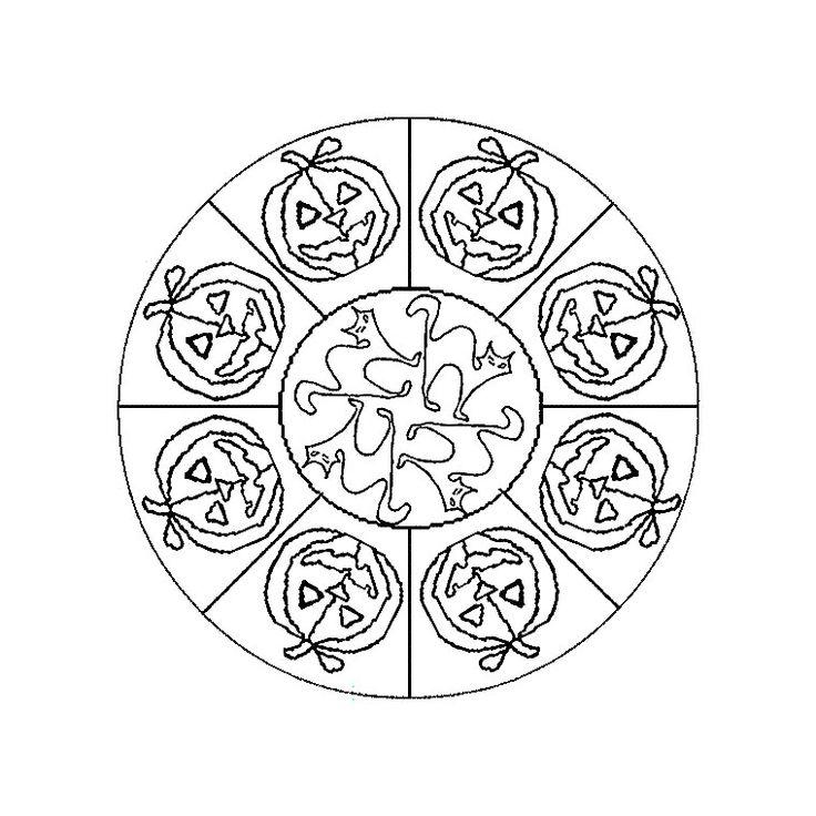 Coloriage Mandala Halloween