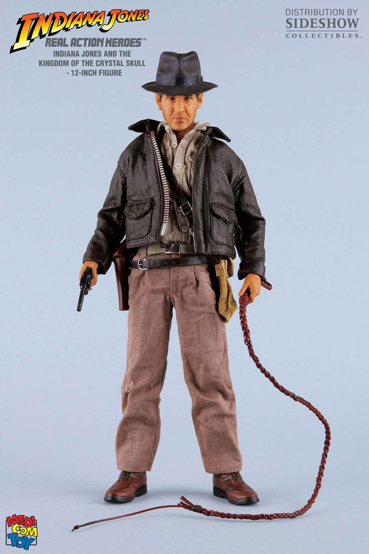 Figura Indiana Jones.El Reino de la Calavera de Cristal, RAH 30cm