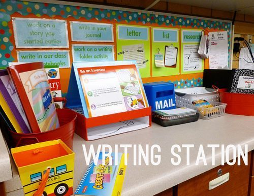 Daily 5 Work on Writing Station // http://www.secondstorywindow.net/home/2012/10/daily-5-work-on-writing-station.html