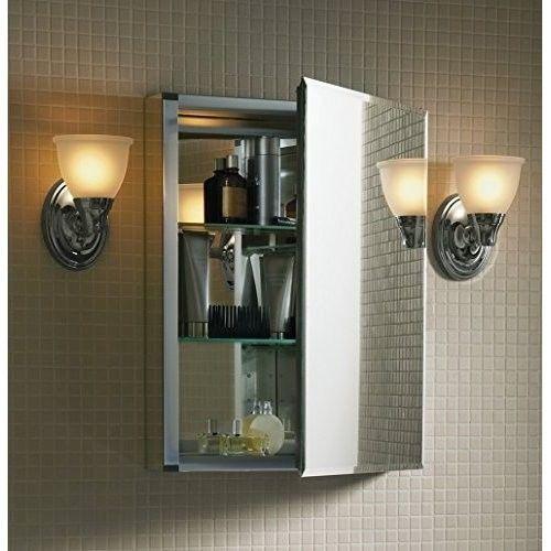 Bathroom Medicine Cabinet Mirror Aluminum Glass Vanity Storage Shelves Organizer