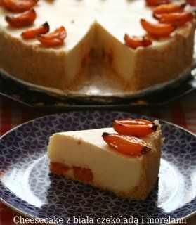 Cheesecake z białą czekoladą i morelami