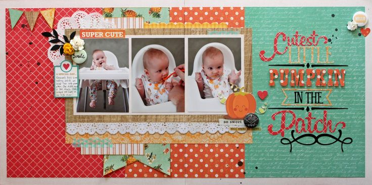 Kaisercraft Tropical Punch collection  Cutest Little Pumpkin.
