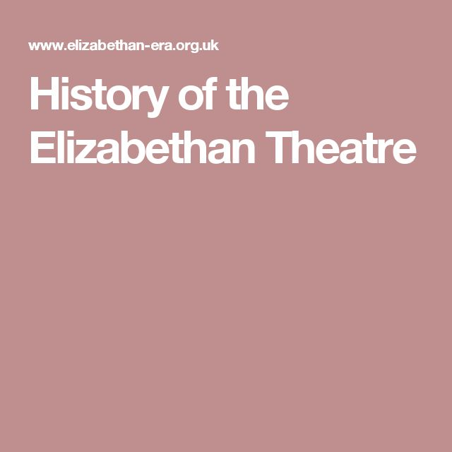 the history and development of the elizabethan theatre Elizabethan theatre il teatro elisabettiamo, appunto in lingua inglese di sari ominide 50 punti roman theatre influenced elizabethan one especially from seneca: division in 5 acts, use of monologues plays about english history (macbeth.