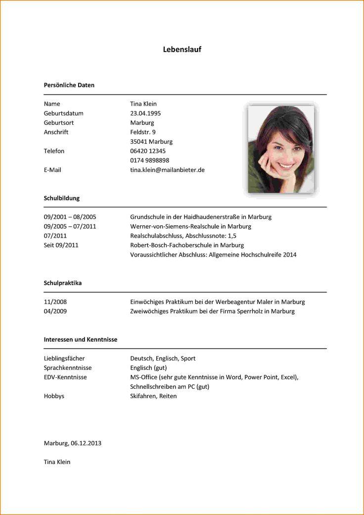 student cv for job
