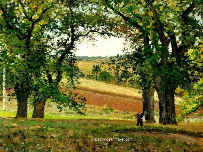 Camille Pissarro Chestnut Trees at Osny, 1873 painting for sale outlet online, painting Authorized official website
