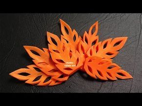 Simple Carrot Leaf Design - Beginners Lesson 17 By Mutita The Art Of Fruit And Vegetable Carving - YouTube