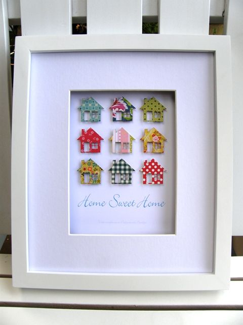 paper houses, Home Sweet Home. What a great gift idea