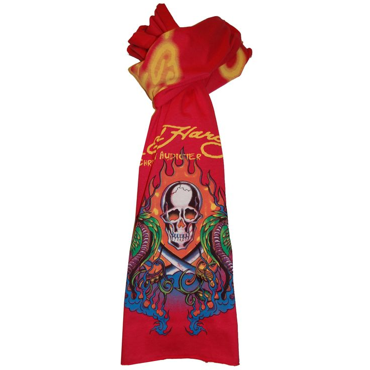 Ed Hardy Kids Skull with Serpant Scarf – Red
