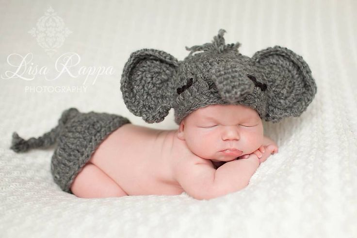 RESERVED for Jessica--Gray elephant crochet outfit hat ...