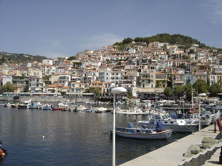 Lesvos (Greek: Λέσβος) is a Greek island located in the northeastern Aegean Sea. It has an area of 1,632 km² with 320 kilometres of coastline, making it the third largest Greek island. It is separated from Turkey by the narrow Mytilini Strait. [Here: Plomari, Lesvos]