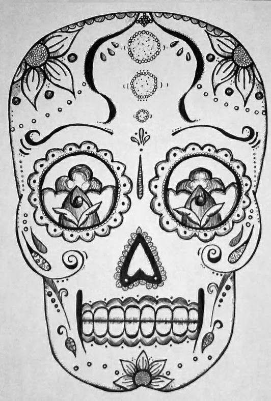 Printable Tattoo Stencils Tattoo Sleeve: Sugar Skull Tattoo Stencils
