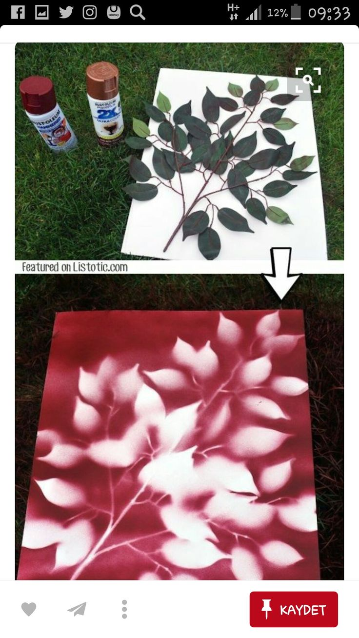 Use spray paint to make easy wall art! -- 29 Cool Spray Paint Ideas That  Will Save You A Ton Of Money
