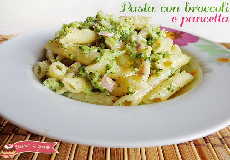 pasta con broccoli e pancetta ricetta primo con broccoli e pancetta
