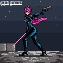 space rogue, try for pixel art retro game - art by gigondgrimlock