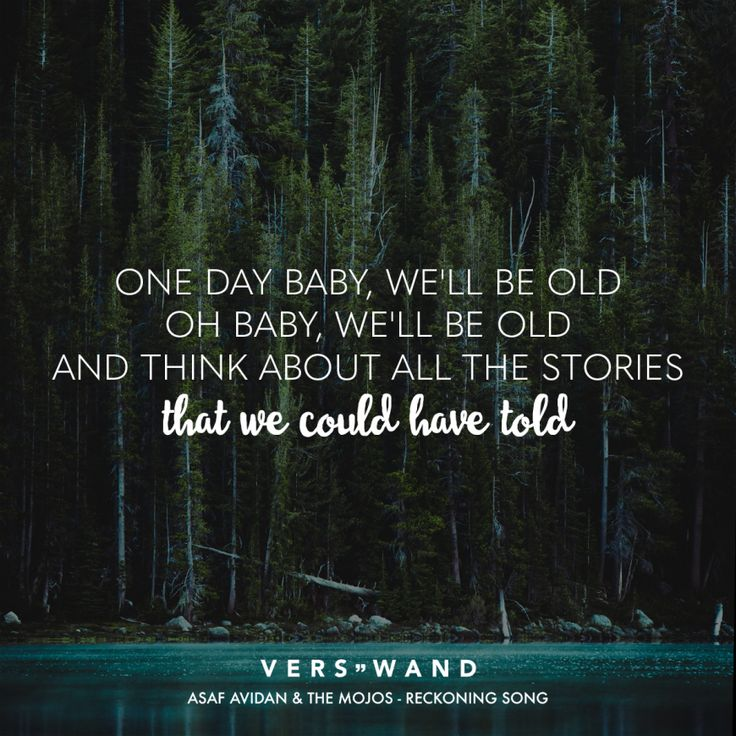 One Day WeLl Be Old