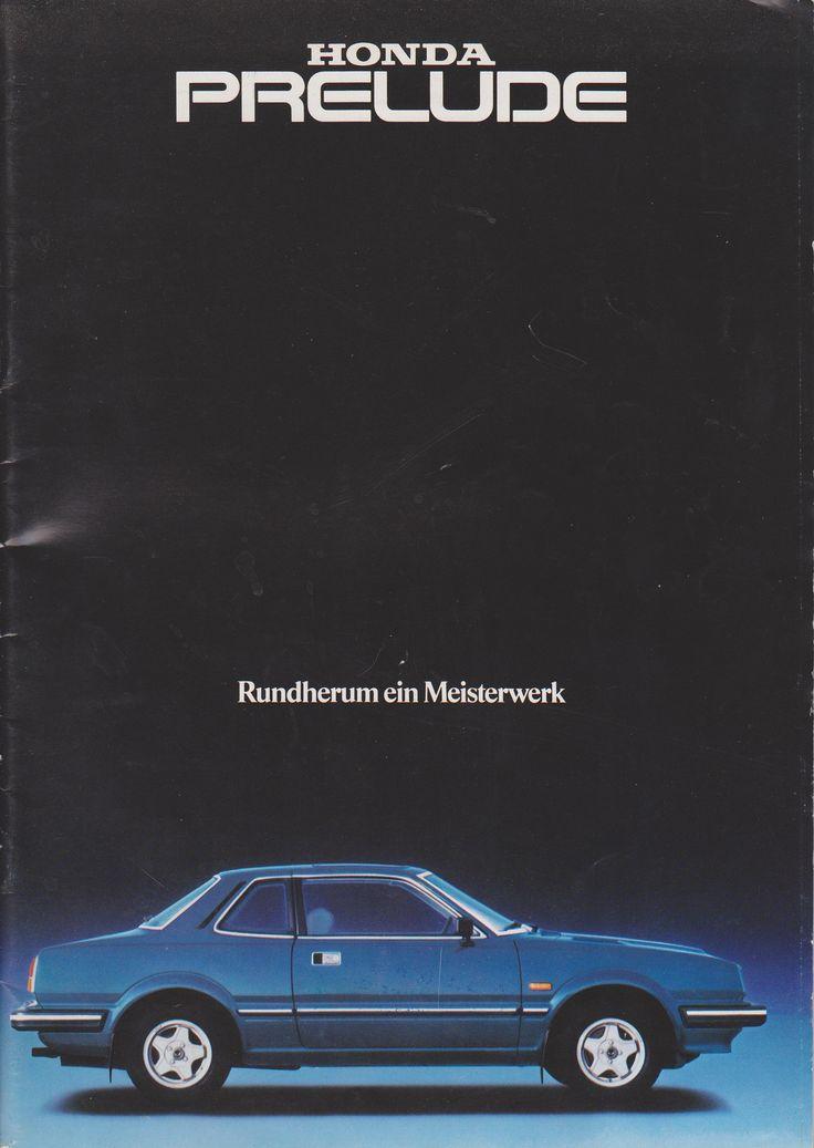 Honda Prelude Mk1 Germany Brochure 1980