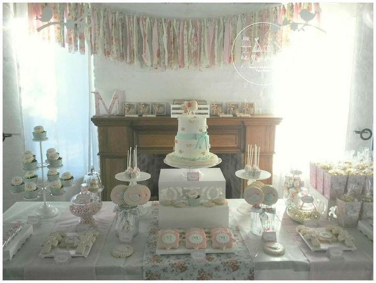 Romantic Shabby Chic Baptism Party Ideas | Photo 17 of 50 | Catch My Party