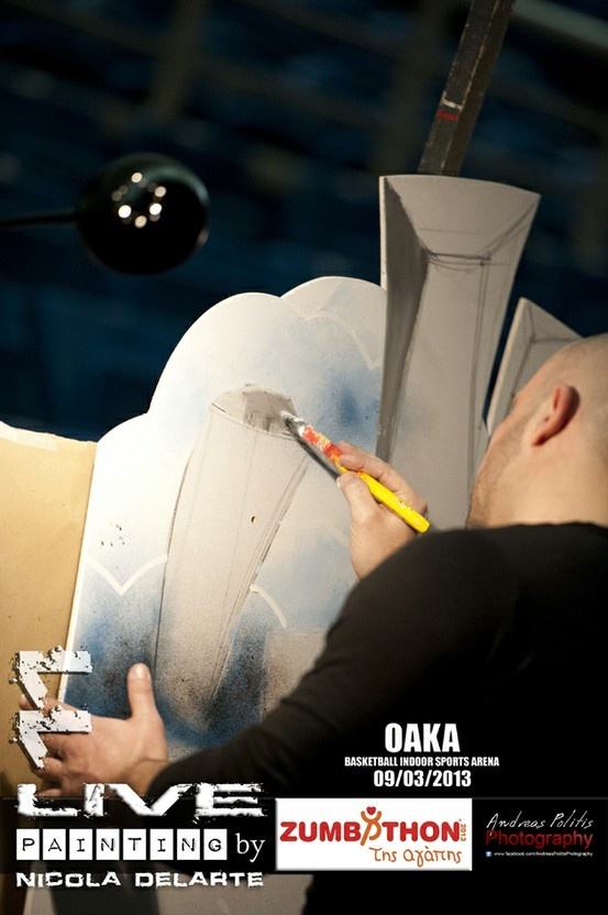 Live painting at Zumbathon της αγάπης - ΟΑΚΑ 2013