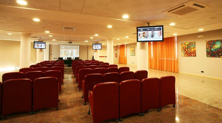 """Record Hotel - Sala Venere (dotata di lavagna a fogli mobili, lavagne per slides, videoproiettore, impianto audio, 4 schermi al plasma 50"""", connessione Internet WI.FI)"""