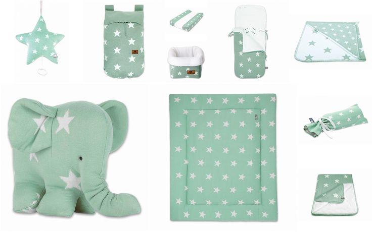 Gaaf voor de babykamer, mintgroen met witte sterren van Baby's Only! http://www.blauwlifestyle.nl/nl/lifestyle.html?merken=138