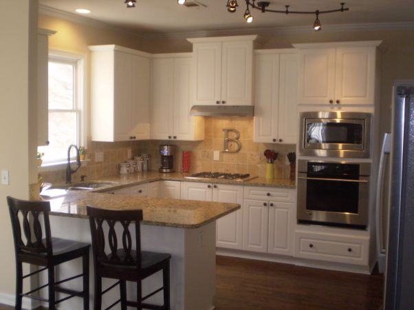 Before and after kitchen makeover ideas pinterest for Cheap kitchen ideas for small kitchens