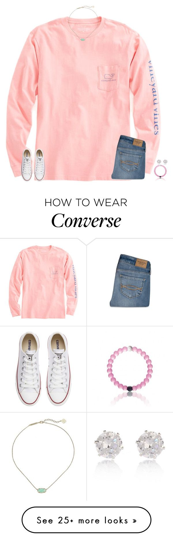 """ootd"" by secfashion13 on Polyvore featuring Vineyard Vines, Abercrombie & Fitch, Converse, Kendra Scott, River Island, women's clothing, women's fashion, women, female and woman"
