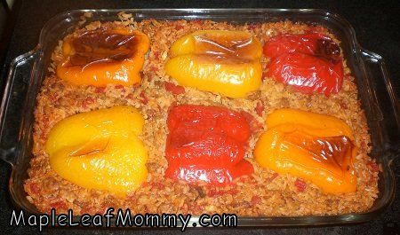 thinking ill make this...Lazy Stuffed Peppers, Belle Peppers, Sweets Peppers Recipe, Bell Peppers, Lazy Mom, Mom Finding, Finding Recipe, Mom Unstuffed, Unstuffed Peppers
