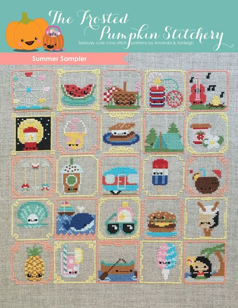 Summer Sampler PDF Cross Stitch Pattern