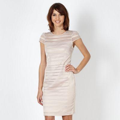 Lipsy Lipsy VIP pale pink satin striped dress- at Debenhams.ie
