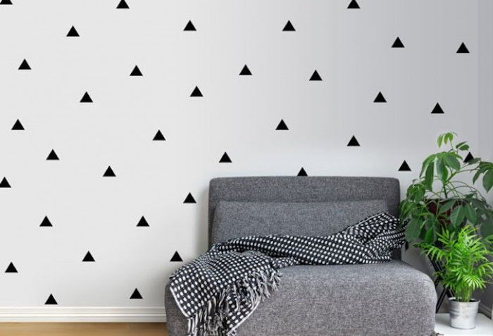 Twiggy vinyl wall art installations.