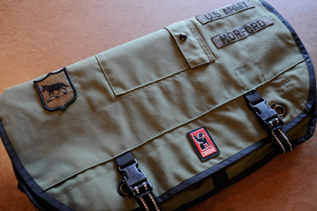 In honor of Memorial Day, Chrome is launching a Custom Military Salvage Program for U.S. Military veterans & their families. If they bring in their military duffles or fatigues to one of Chrome's four HUBs (SF, NY, CHI, or PDX), we'll use the material to create a custom Citizen Messenger bag.